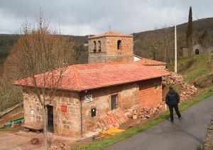 Escuela de Arcera en obras. Abril 2009