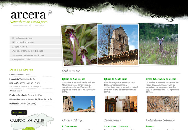 Página web de arcera www.arcera.org