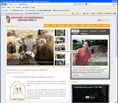 Página web para descubrir el municipio de Valderredible